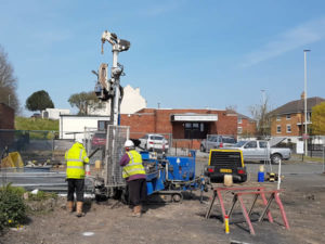 Mining works being carried out in Dudley