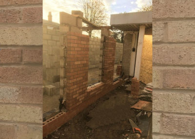 Brick and Blockwork up to wall plate