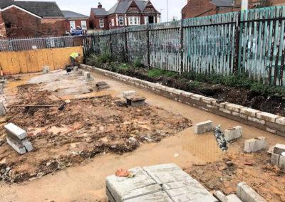 Construction workers in Birmingham