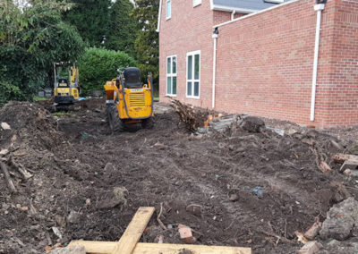 Tractors move in to start landscaping