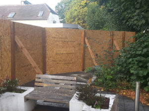 Protective Site Hoarding for secure care home