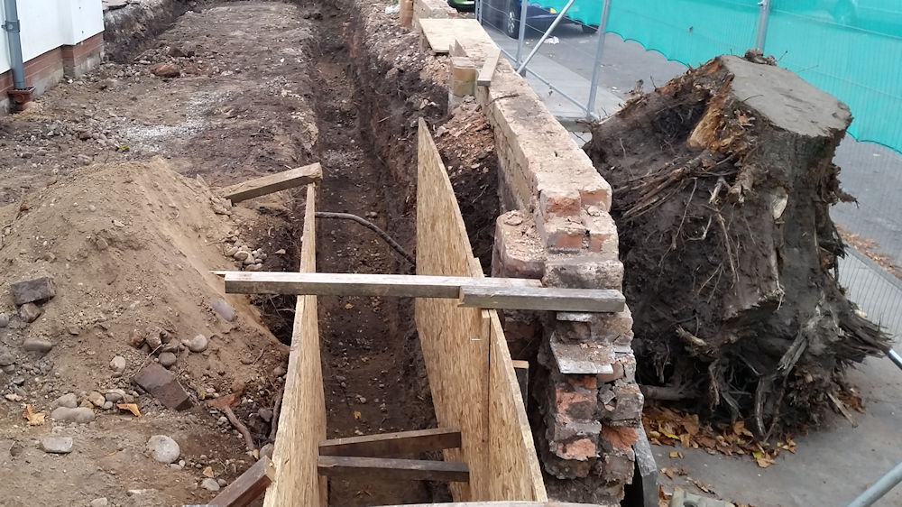 Digging Foundations for Care Home Extension
