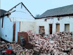 Refurbishment often starts with demolition