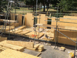Timber framed classroom extensions